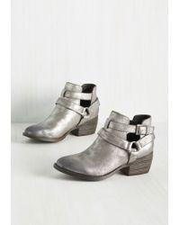 BC Footwear - Skip A Beat Metallic Bootie In Pewter - Lyst