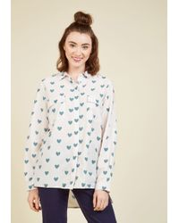 Sugarhill - A Heart-y Helping Of Style Button-up Top - Lyst