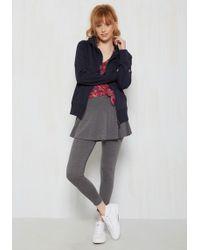 Leggsington - Skirt With The Idea Leggings In Grey - Lyst
