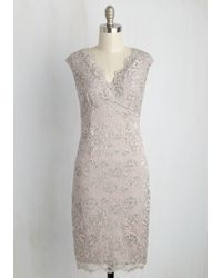 Marina - Opulent Observer Lace Dress - Lyst