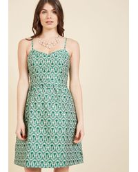 Appareline - Evenings Overseas A-line Dress In Clover - Lyst