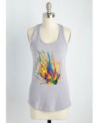 Fuzzy Ink | Party Peafowl Tank Top | Lyst