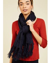 Ana Accessories Inc | Cable Knit Capability Scarf In Navy | Lyst