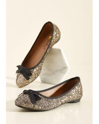 Machi Footwear - Fave The Day Flat In Gold - Lyst