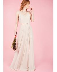 Jenny Yoo - The Essence Of Enchantment Maxi Dress In Taupe - Lyst