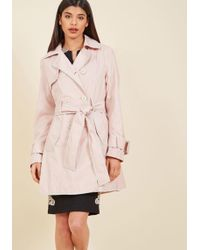 Betsey Johnson - Coffee Break From The Norm Trench In Petal - Lyst