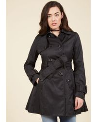 Betsey Johnson - Coffee Break From The Norm Trench In Black - Lyst