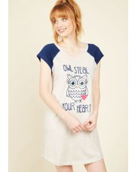 Sleep & Co. - Hoo Do You Love? Nightgown - Lyst