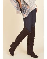 MIA - Bring On The Boldness Suede Boot In Brown - Lyst