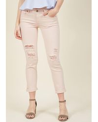 Eunina, Incorporated - Edgy Efficiency Skinny Jeans In Blush - Lyst