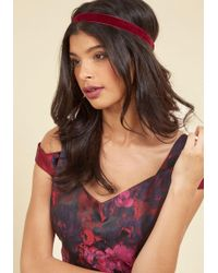 Ana Accessories Inc - Touch Of Luxury Velvet Headband In Burgundy - Lyst