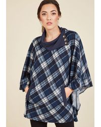 East Concept Fashion Ltd - Sweet As Cider Sweater In Blue Plaid - Lyst