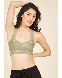 ModCloth - Breath And Balance Bralette In Sage - Lyst