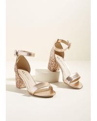 CL By Chinese Laundry - We've Got The Function Block Heel In Rose Gold - Lyst