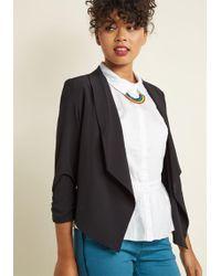 ModCloth - Marketing Maven Blazer In Black - Lyst