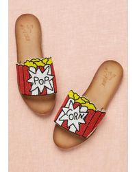 Miss L-fire - Beaded Treat Leather Slide Sandal - Lyst
