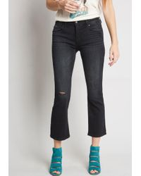 ModCloth - Distressed Finesse Cropped Jeans - Lyst