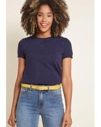 ModCloth - Charter School Short Sleeve Sweater - Lyst