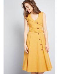 1322a932aa Collectif X Mc Cherished Era Shirt Dress in Red - Lyst