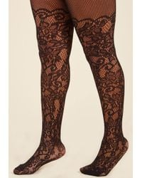 ModCloth   Intricately Exquisite Tights - Extended Size   Lyst
