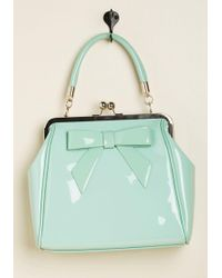 Banned - High-shine Profile Bag In Mint - Lyst