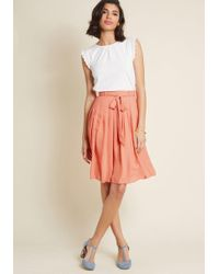 ModCloth - Purely Pretty Pleated Skirt - Lyst