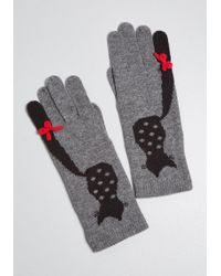 ModCloth - Ailurophile Style Cat Gloves - Lyst