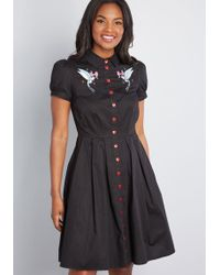 Hell Bunny - Couldn't Agree Amour Shirt Dress - Lyst