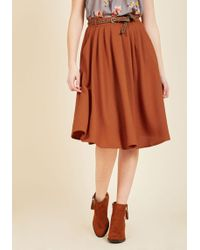 Hot & Delicious - Breathtaking Tiger Lilies Midi Skirt In Orange - Lyst