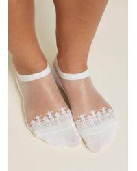 ModCloth   Elegant Amble Sheer Socks   Lyst