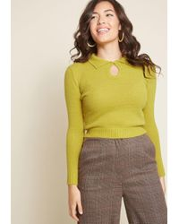 Collectif - Throwback Brunch Collared Sweater - Lyst
