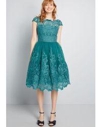 6ea38e4412ae Lyst - ModCloth Emotive Elegance Embroidered Dress in Blue