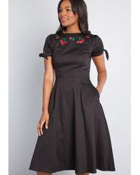 b7abd35295fb Lyst - Collectif Effortless Edit A-line Midi Dress in Black