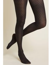 ModCloth - Divine Design Tights - Size Os - Lyst
