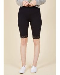 ModCloth - Across Town Shorts In Black - Lyst
