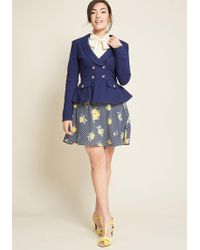 Collectif - Lend Your Intelligence Cotton Blazer - Lyst