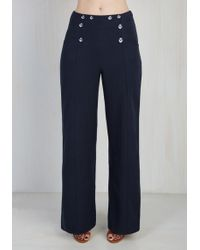 Banned - Leadership Ahoy Pants In Navy - Lyst