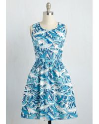 Folter Inc - Land Before Sublime A-line Dress In Sharks - Lyst