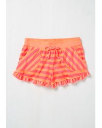Betsey Johnson - You Frilly, Really Like Me! Sleep Shorts In Coral - Lyst