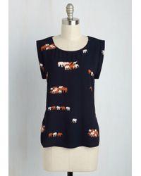 Sunny Girl Pty Lltd - Outfit It To Memory Top In Elephants - Lyst