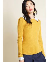 ModCloth - Wine Appreciation Collared Sweater - Lyst