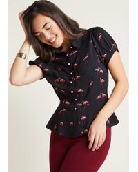 Collectif | Regularly Scheduled Sass Button-up Top | Lyst