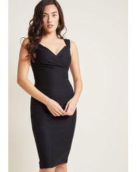 ModCloth - Lady Love Song Sheath Dress In Black - Lyst