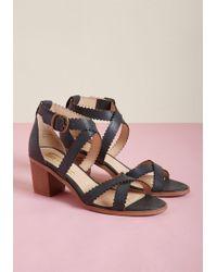 ModCloth - Amorous Asset Block Heel Sandal - Lyst
