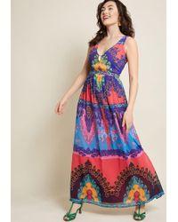 a420b4f38 Eliza J Party Prestige Floral Maxi Dress In Black in Red - Lyst