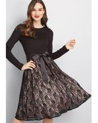ModCloth - Go With Grace Long Sleeve Dress - Lyst