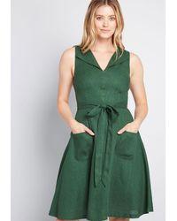 ModCloth - Retro Blend Midi Dress - Lyst