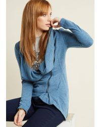ModCloth - Airport Greeting Cardigan In Blue - Lyst