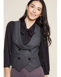 ModCloth - Suave The Day Herringbone Vest - Lyst