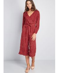 17c14299cbd Louche - Flowy Functionality Jumpsuit - Lyst. Louche. Flowy Functionality  Jumpsuit. $95. ModCloth. Louche - Clever Measures Long Sleeve Blouse ...